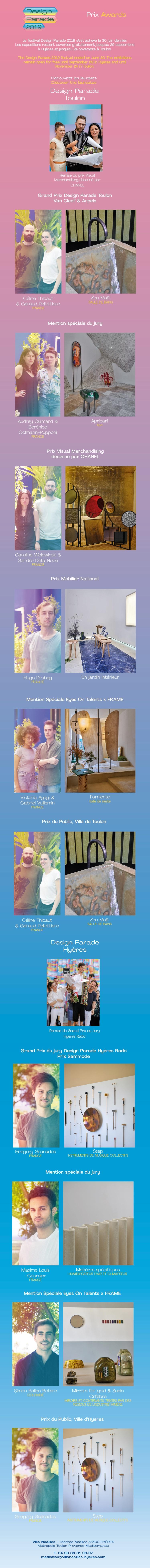 Prix Design Parade Toulon 2019